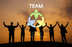 Team Teamwork Connection Cooperation Partner Concept Royalty Free Stock Photography