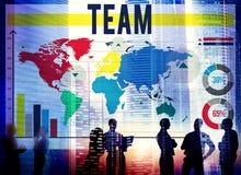 Team Teamwork Cooperation Connection Concept Fotos de archivo libres de regalías