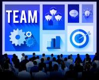 Team Teamwork Corporate Group Partnership-Concept royalty-vrije illustratie