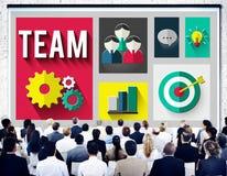 Team Teamwork Corporate Group Partnership-Konzept Stockbild