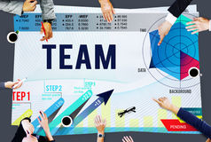 Team Teamwork Corporate Partnership Cooperation Concept stock photo