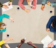 Team Teamwork Discussion Meeting Planning begrepp Royaltyfria Foton