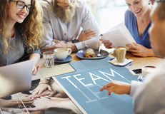 Team Teamwork Help Share Contribute Concept Royalty Free Stock Photography