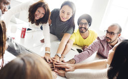 Team Teamwork Join Hands Partnership Concept Royalty Free Stock Image