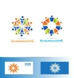 Team teamwork logo icon concept Royalty Free Stock Image