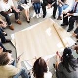 Team Teamwork Meeting Start acima do conceito Imagem de Stock Royalty Free