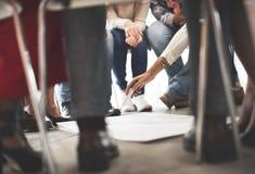 Team Teamwork Meeting Start acima do conceito Imagem de Stock