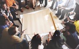 Team Teamwork Meeting Start acima do conceito foto de stock