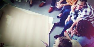Team Teamwork Meeting Start vers le haut de concept Images libres de droits