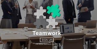 Team Teamwork Partnership Alliance Unity begrepp royaltyfria foton