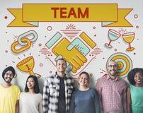 Team Teamwork Partnership Collaboration Concept Stock Image