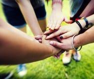 Team Teamwork Relation Together Unity kamratskapbegrepp Fotografering för Bildbyråer