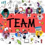 Team Teamwork Support Collaboration Togetherness hjälpbegrepp Royaltyfri Bild