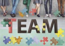 Team Teamwork Together Togetherness Unity-Concept Royalty-vrije Stock Fotografie