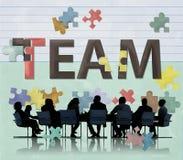 Team Teamwork Together Togetherness Unity-Concept Stock Afbeelding