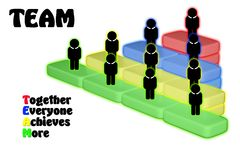 Team Teamwork Togetherness Collaboration Concept Royalty Free Stock Images