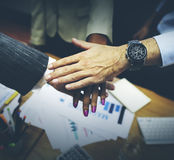 Team Teamwork Togetherness Collaboration Corporate Concept Royalty Free Stock Photography