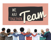 Team Teamwork Togetherness Union Partnership Concept Royalty Free Stock Image