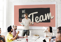 Team Teamwork Togetherness Union Partnership Concept Stock Images