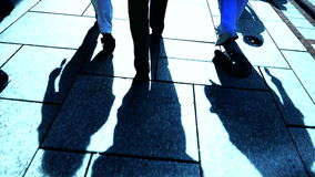 Team teamwork walking slow motion people group person stock footage
