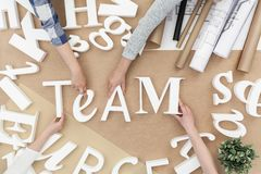 Team and teamwork Royalty Free Stock Photo