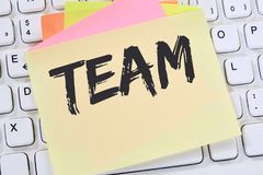 Team teamwork working together office business concept note pape Royalty Free Stock Image
