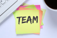 Team teamwork working together office desk Royalty Free Stock Images