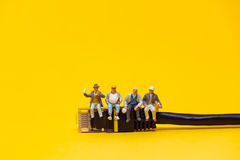 Team of technicians having a break. Technology concept Royalty Free Stock Images
