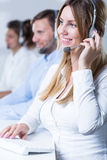 Team of telemarketers Royalty Free Stock Photography