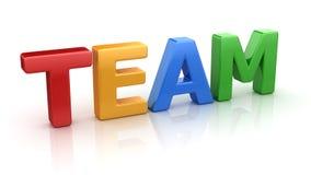 Team Text coloré Illustration de Vecteur