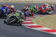 Team Thomas Superpole 24 Stunden Catalunya-Motorradfahren Stockfoto