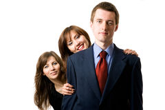 Team of three business people. Royalty Free Stock Image