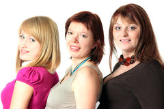 Team of three businesswomen Stock Image