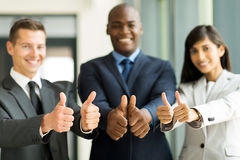 Team thumbs up Royalty Free Stock Photography