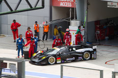 Team Thunderasia exits the pit at superGT Race Stock Photography