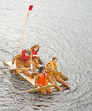 Team Ti-grrrrrr! on the river Ness. Royalty Free Stock Images
