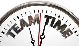 Team Time Clock Words Teamwork coopèrent Photos stock