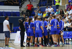Team time-out  - ZRK Buducnost Royalty Free Stock Photo
