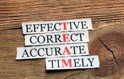 Team timely acronym Stock Image