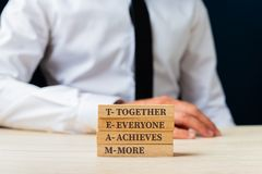 Free Team - Together Everyone Achieves More Stock Photo - 160119620