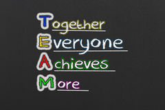 Team. Together Everyone Achieves More.Team Concept Stock Photography
