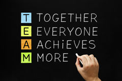 TEAM Together Everyone Achieves More Stock Images
