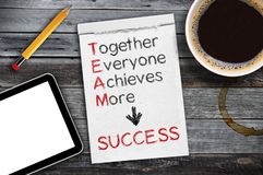 Team together everyone achieves more stock photography