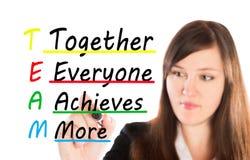 Team Together iedereen bereikt meer Royalty-vrije Stock Afbeeldingen