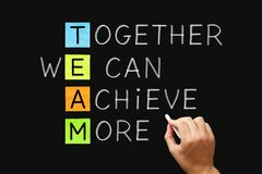 Free TEAM Together We Can Achieve More Royalty Free Stock Photos - 151433168