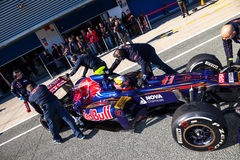 Team Toro Rosso F1, Jean Eric Vergne, 2012 Royalty Free Stock Photos