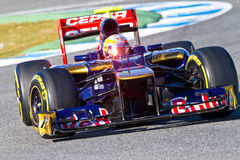 Team Toro Rosso F1, Jean Eric Vergne, 2012 Stock Photography