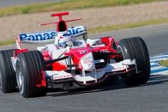 Team Toyota F1, Olivier Panis, 2006 Arkivbild