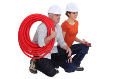 A team of tradespeople Stock Images