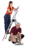 Team of tradespeople Stock Photography